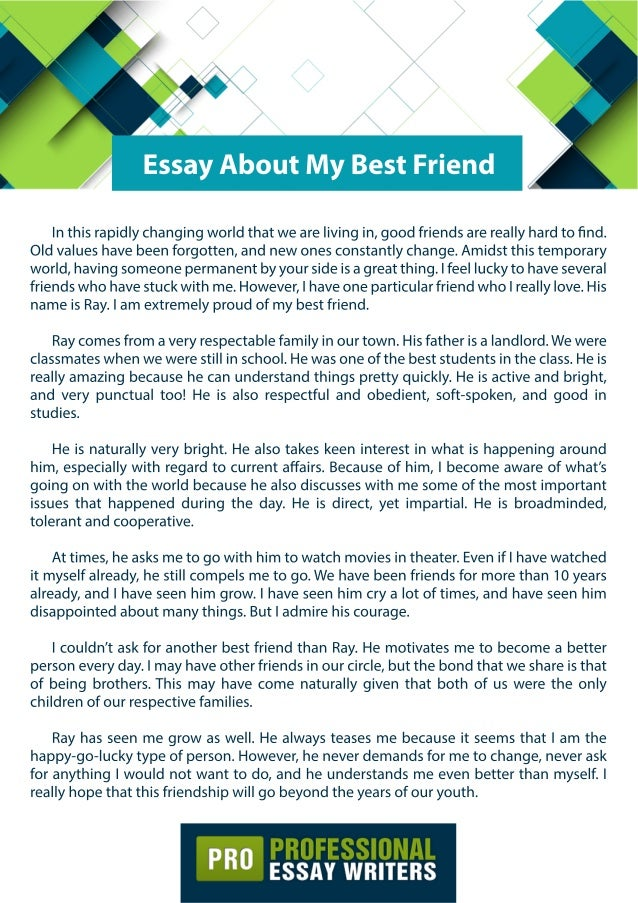Essay about best friends