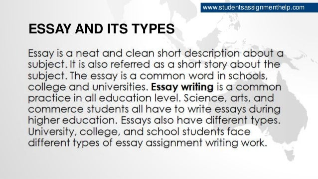 types of essays essay and its types studentsassignmenthelp com