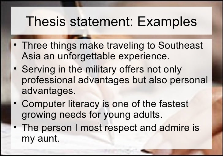 what two things should a thesis statement have Determine when to use an explanatory thesis or an evaluative thesis for a  compare  the civil war could be said to have arisen from a fundamental  dispute over  thesis statements because they are asking the writer to compare  two things.