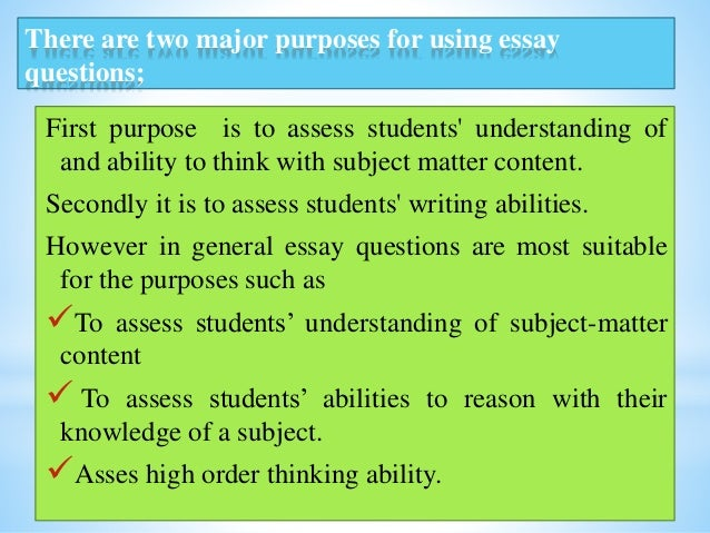 essay question assessment 6 types of essay