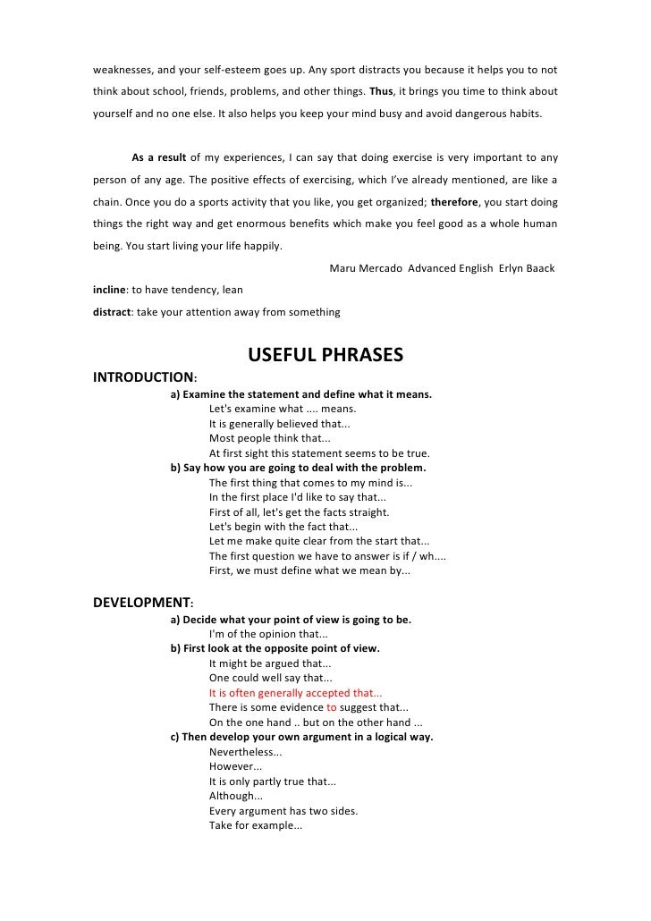 essay intro devlp concl 25 weaknesses and your self esteem
