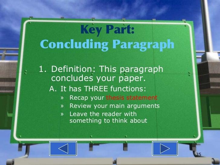 3 part essay map