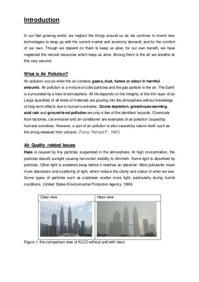causes of haze essay