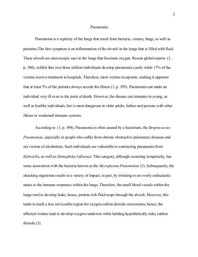 nursing essay on pneumonia