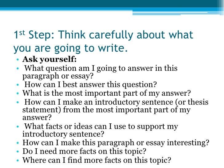 essay step by step