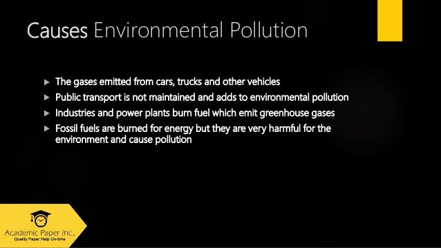 Essay on environmental pollution and its solution