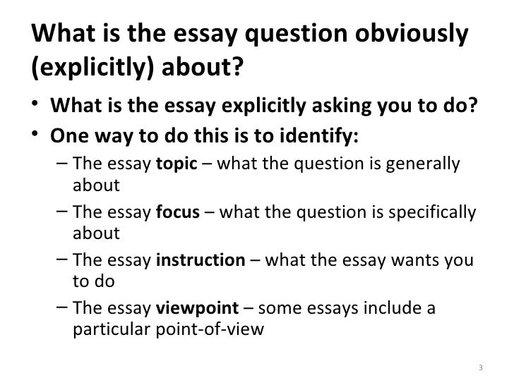 essay skills understanding the essay question  3 what is the essay question