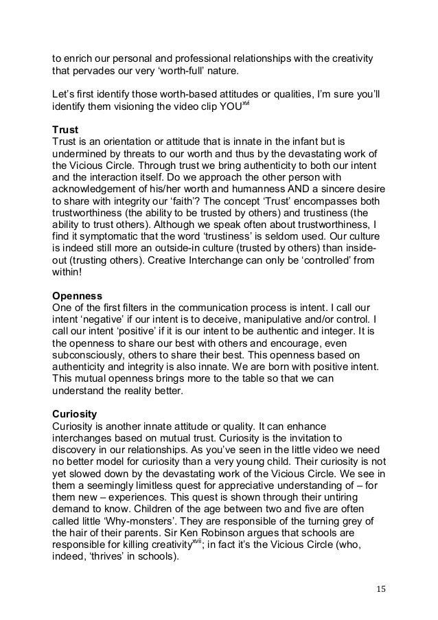 Human traits essay goodness