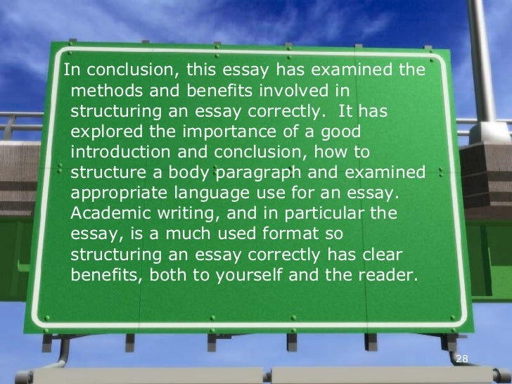 27 28 - Essay Structure Format