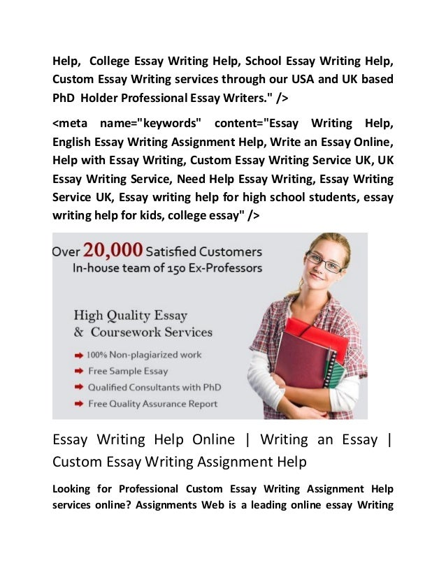 Essay writing assistance