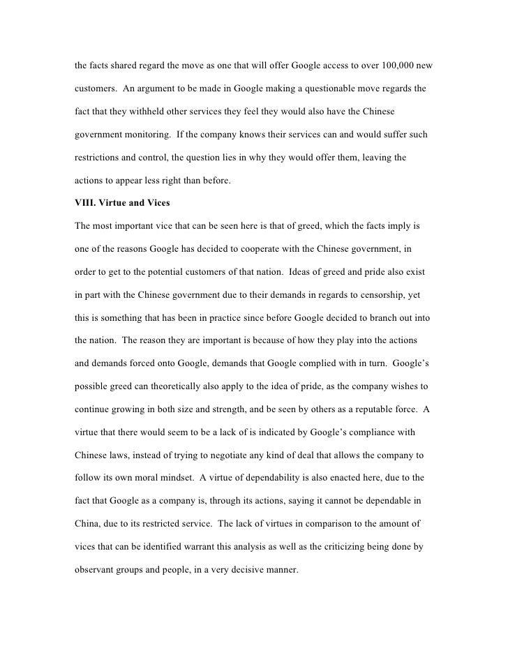Essay on greediness