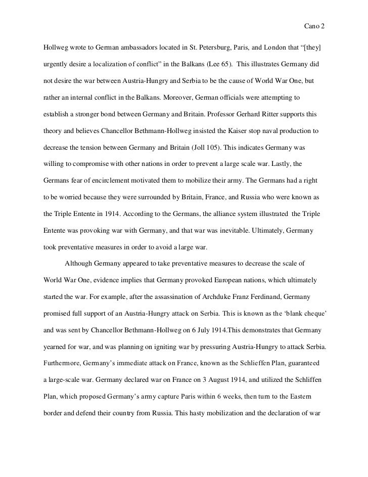 essay 1 origins of wwi