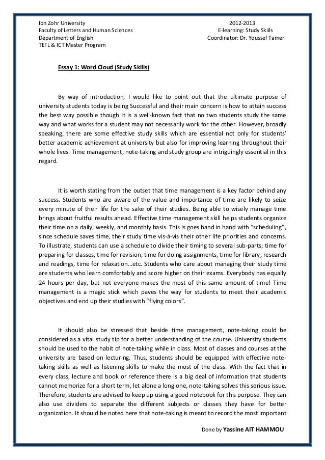 essay about improving writing skills