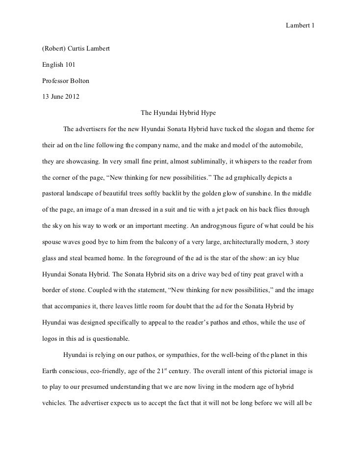 essay ad analysis revised final draft  lambert 1 robert curtis lambertenglish 101professor bolton13 2012