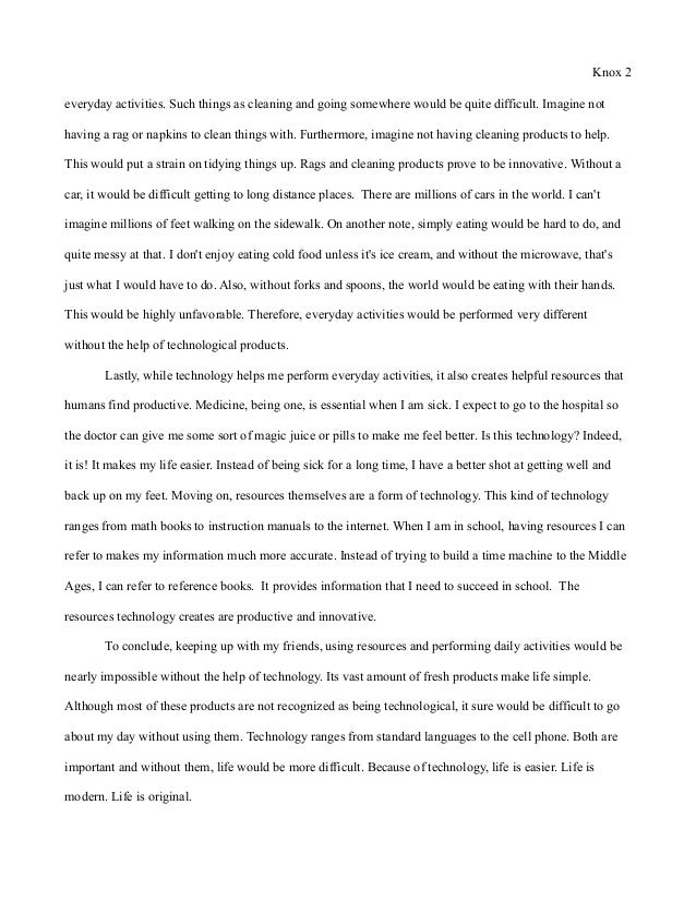 Essay A  Underfontanacountryinncom Essay  Modern World Final