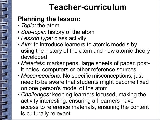 essay for teaching course  teacher curriculum