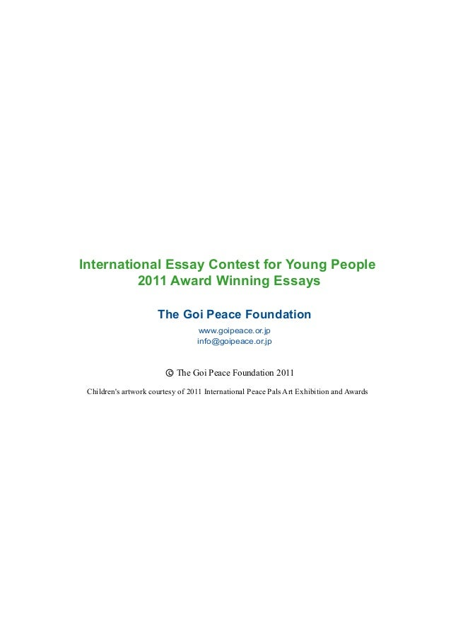 Participate in the 2018 International Essay Contest for Young People 2018!