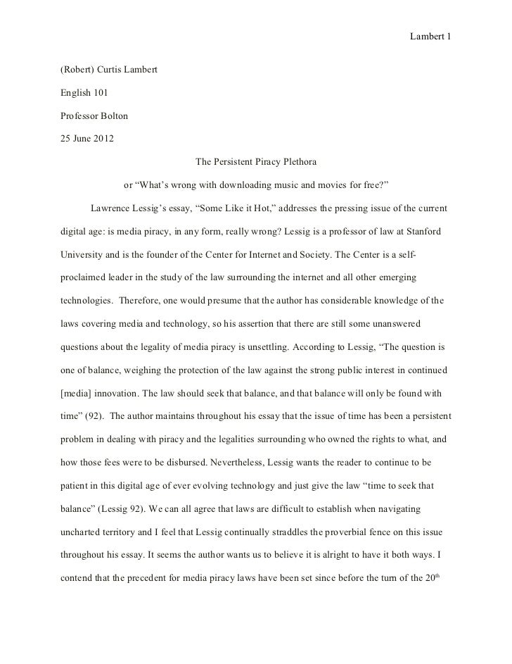 essay text analysis final draft  lambert 1 robert curtis lambertenglish 101professor bolton25 2012
