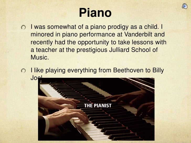 playing the piano essay example