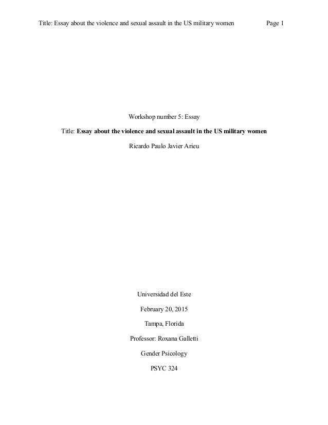 women essay