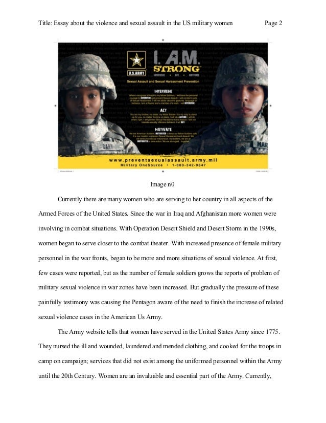 essay about the violence and sexual assault in the us military women  2 title essay about the violence and sexual assault