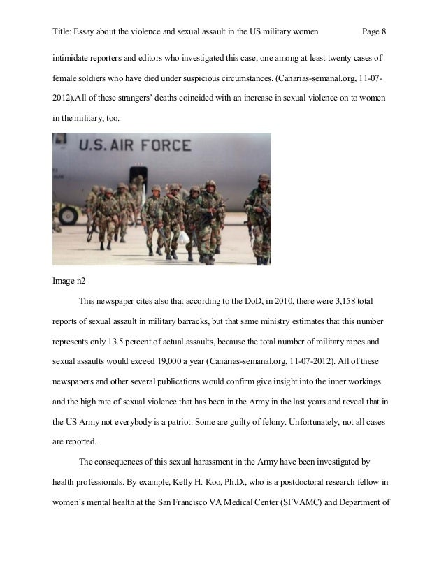 essay about the violence and sexual assault in the us military women 8 title essay about the violence and sexual
