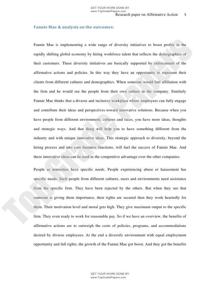 pro affirmative action essay
