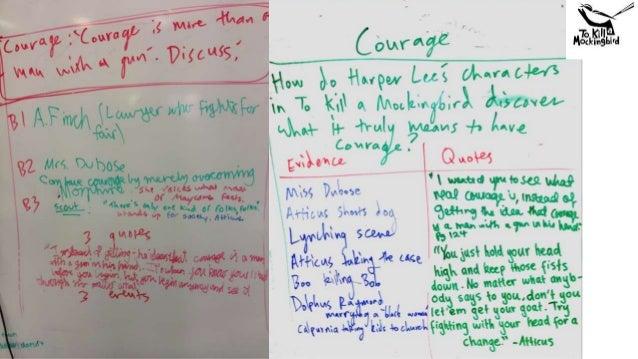 Essay building blocks - To Kill A Mockingbird - Themes - Courage