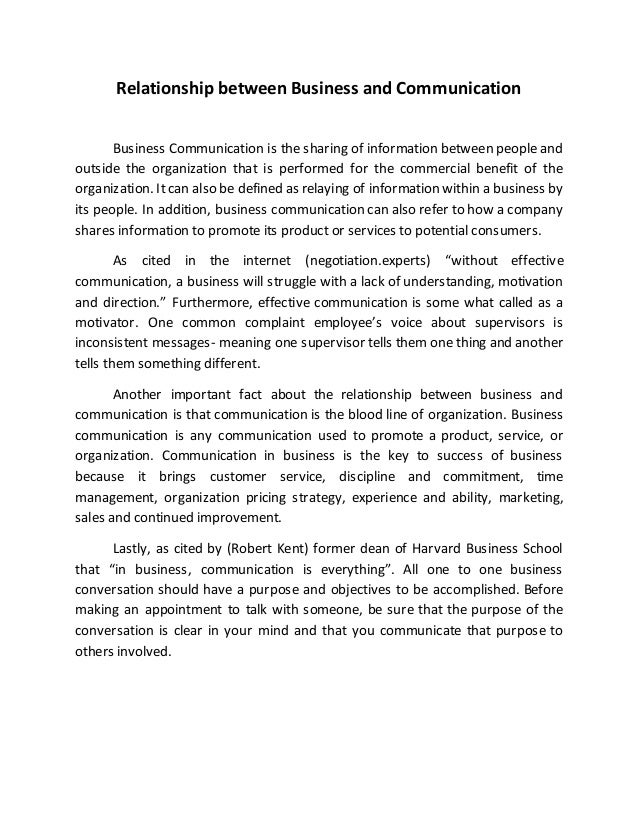 business communication essay pdf
