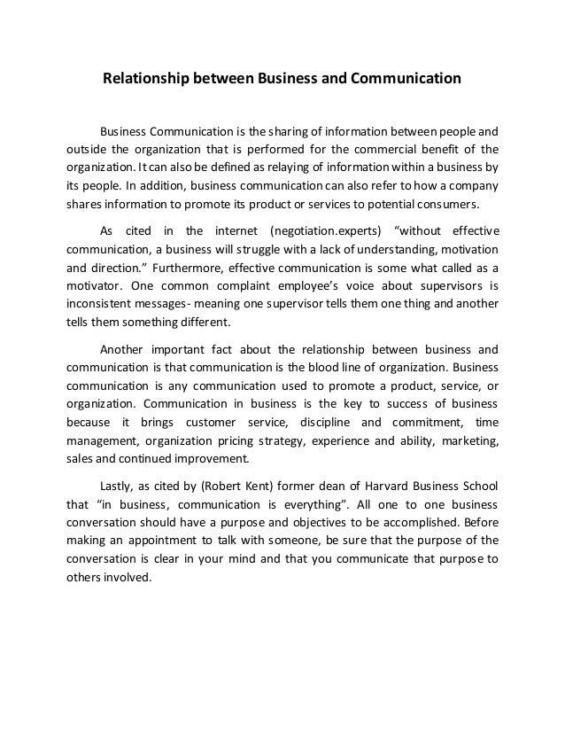 essay communication business essay cite