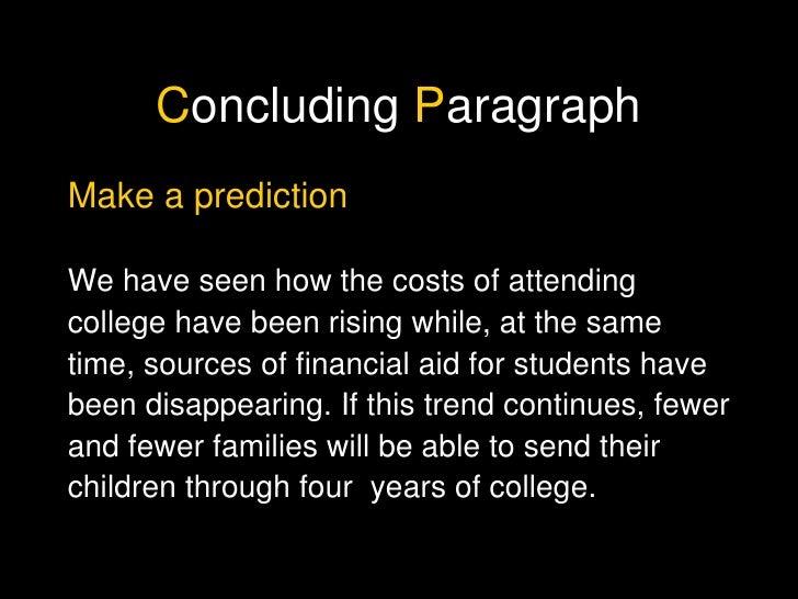 Prediction conclusion essay