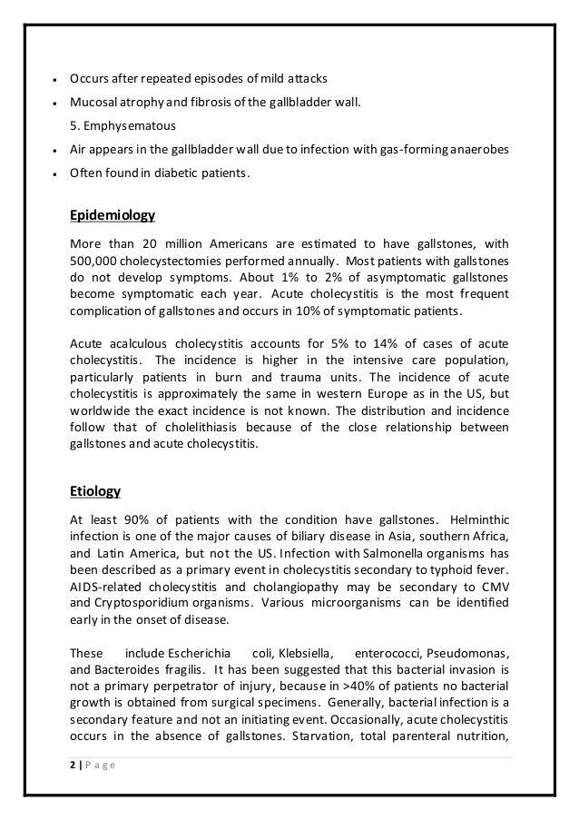 essay describing cholecystitis chronic 2