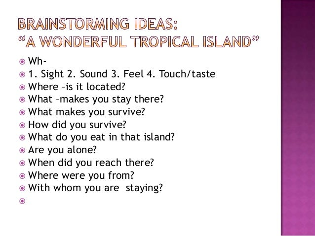 description of an island essay