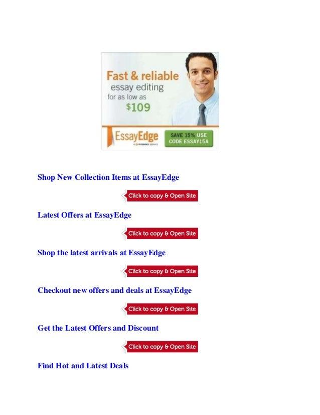 essayedge.com promo code Essayedge coupon & promo codes  receive 10% discount on essayedge with this promo code deal activated,  about essayedgecom.