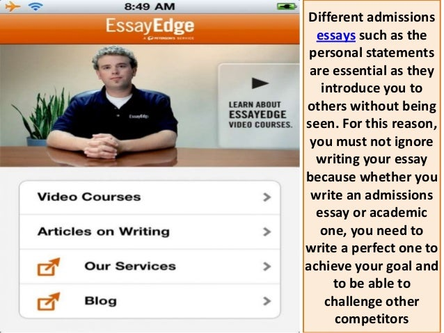 College essay editing services essayedge