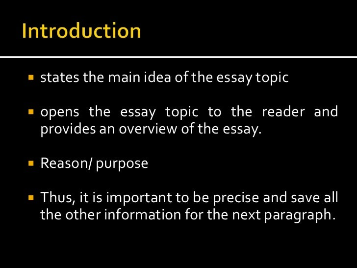 elements of the essay The key elements a good essay takes the reader into account by clearly presenting material in a way that is logical, coherent and easy to follow.