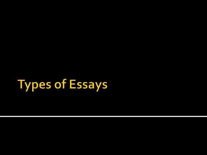 elements and types of essay essay