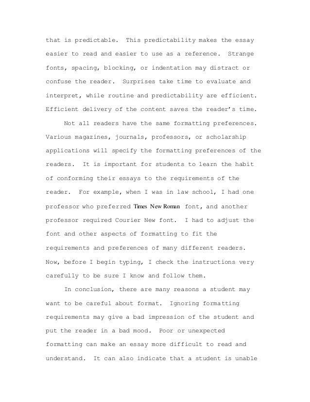formatting essay
