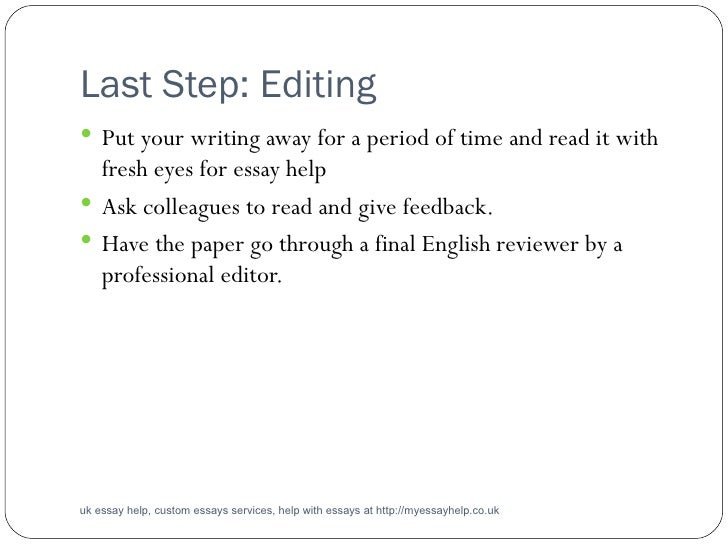 Help on essay writing guide uk
