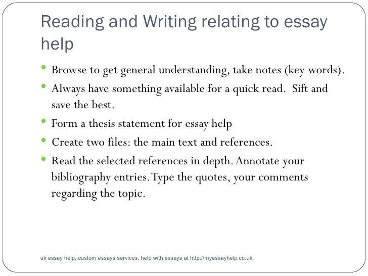 Help essay writing uk