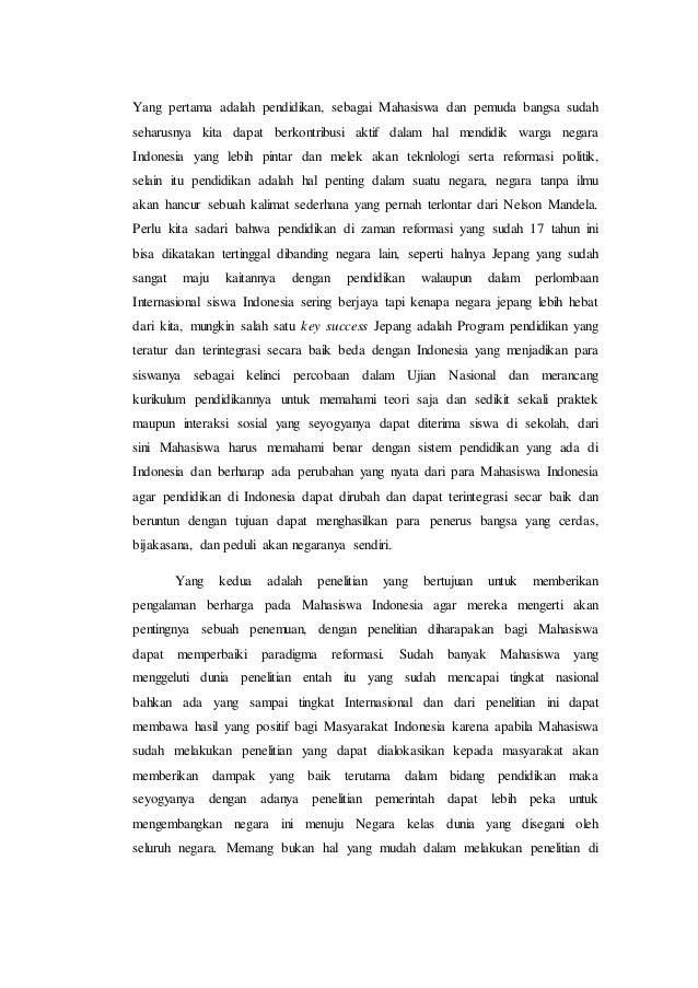 Esai Tentang Reformasi Bangsa Indonesia