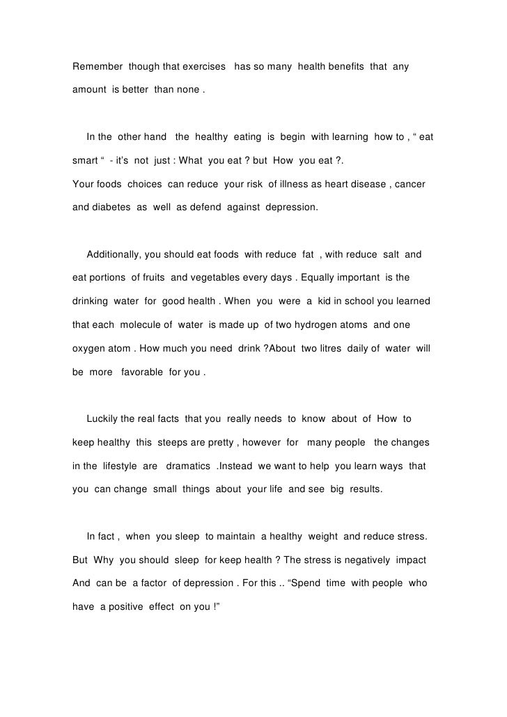 Essay on staying fit the need of an hour