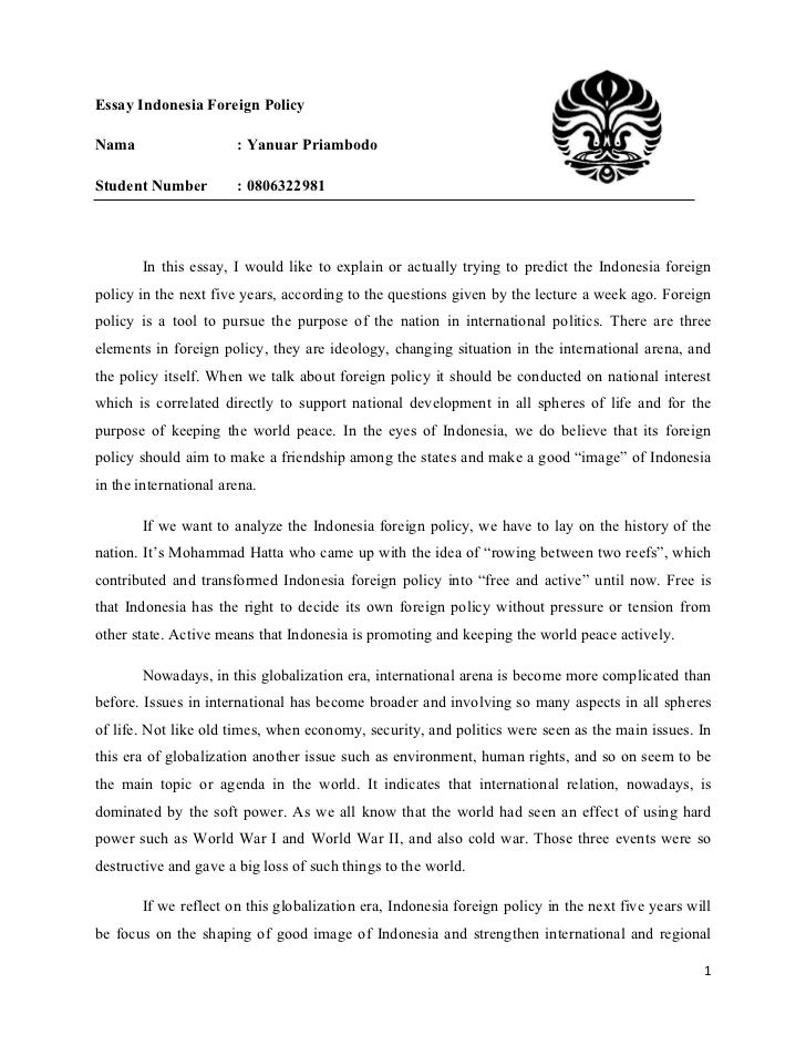 How To Write A Thesis Statement For A Essay Essay On American Foreign Policy In For Anyone Studying Modern American  History And Specializing In The How To Write An Essay In High School also Examples Of Thesis Statements For English Essays Essay On American Foreign Policy In College Paper Example  Computer Science Essay Topics