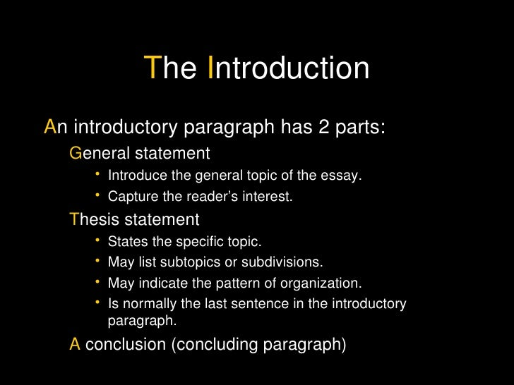 Essay the introduction