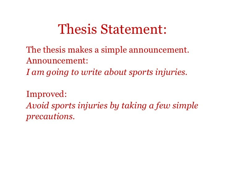 good thesis statements about sports