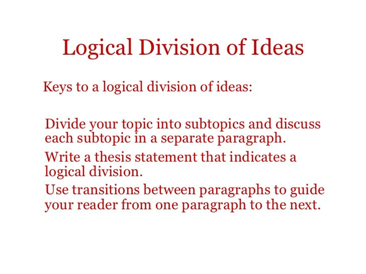 Division analysis essay outline