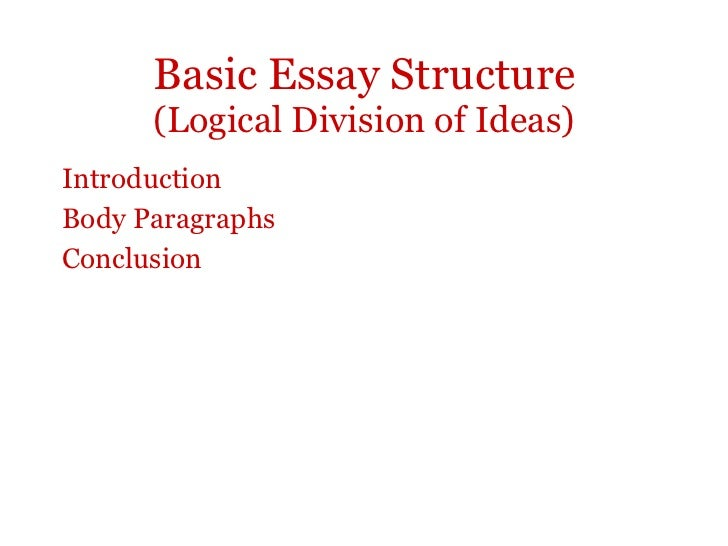 logical division of ideas essays We utilize only workers each custom essay writer at ok-essaycom is known as a competent expert who has proven their methods and knowledge by transferring our a.