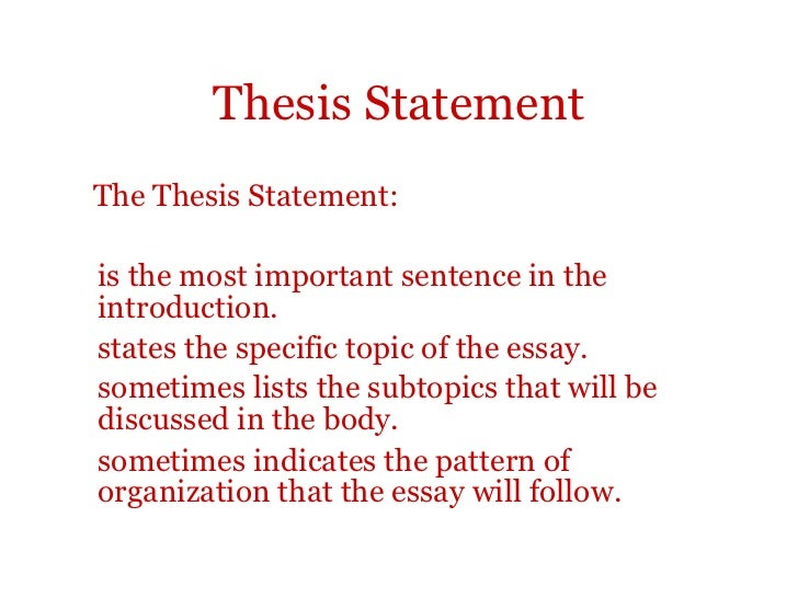 an introduction in an essay has two functions the thesis statement and Default position for a thesis statement is at the end of the introduction functions or content: your essay's thesis two main options for what a thesis.