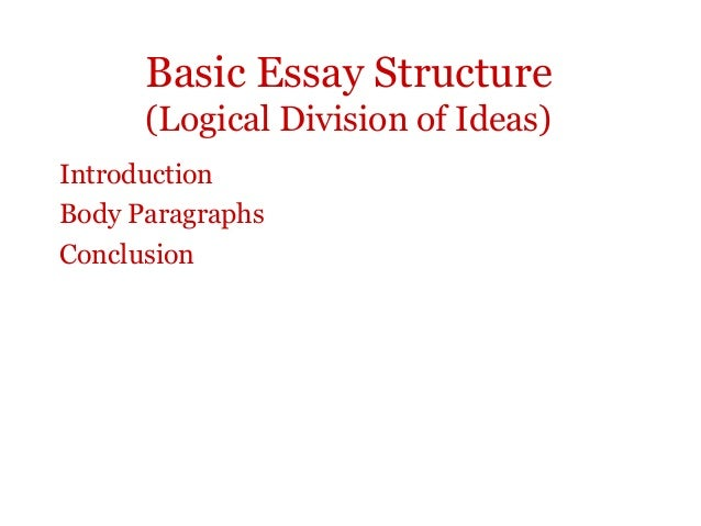 Division essay outline