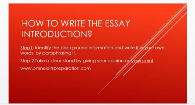 Argumentative Essay Thesis Statement How To Write The Essay Introduction Step Identify The Background  Information And Write Frankenstein Essay Thesis also Persuasive Essay Examples High School Essay Introduction Romeo And Juliet Essay Thesis